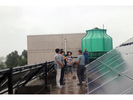 北京市懷柔區發改委部門領導考察天蔚多能互補煤改電系統