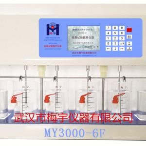 混凝试验搅拌仪MY3000-6F可存储12组程序六联搅拌机
