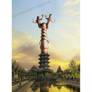 华阳雕塑 重庆定制雕塑厂 重庆主题雕塑设计 四川标志性雕塑